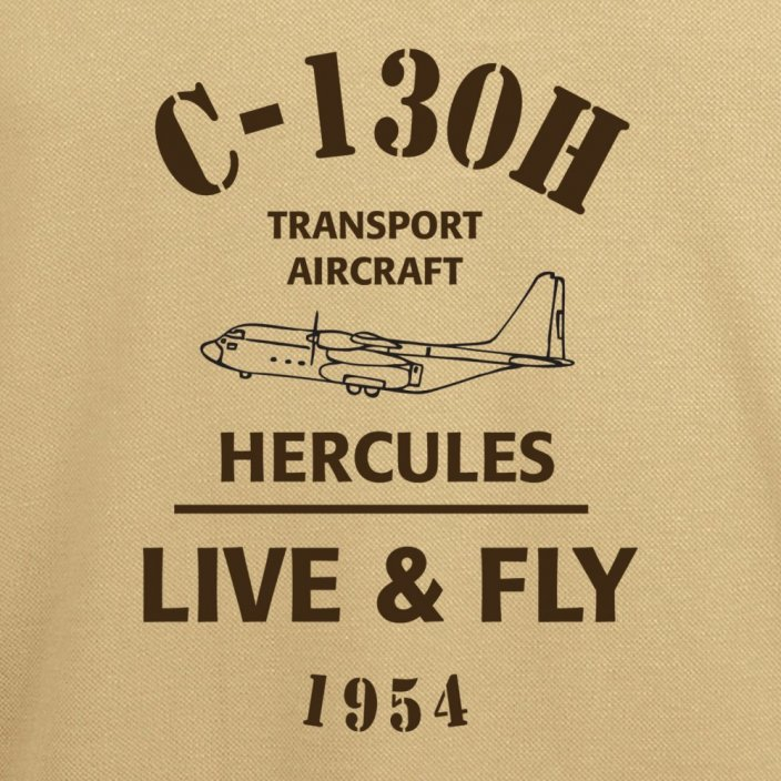 Polo with army aircraft HERCULES C-130H