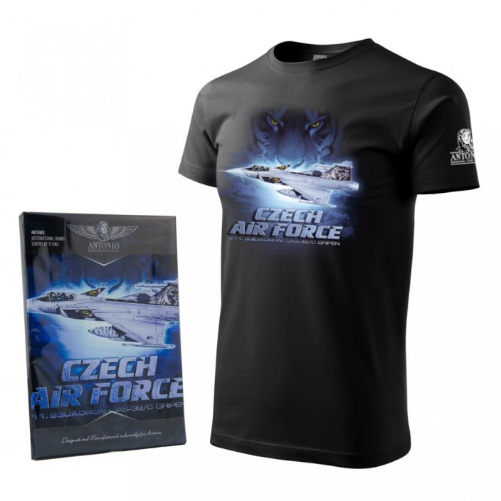 T-Shirt with fighter JAS-39/C GRIPEN