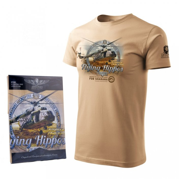 T-shirt with army helicopter Mi-171S - Size: XL