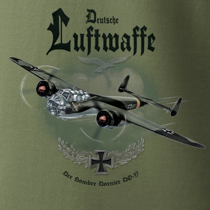 T-Shirt with german bomber DORNIER DO 17 - Size: XXXL