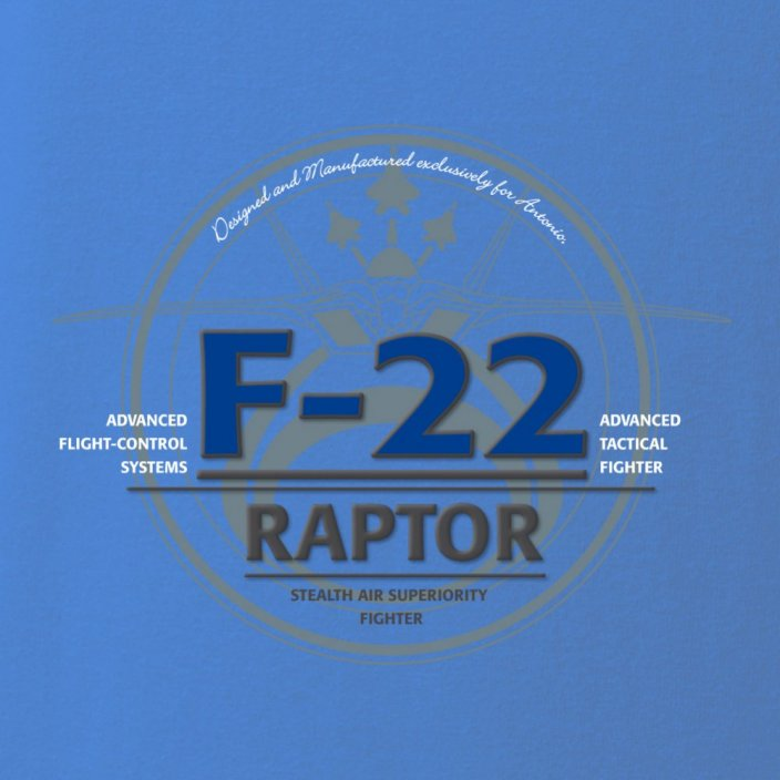 T-shirt with fighter aircraft F-22 RAPTOR - Size: L