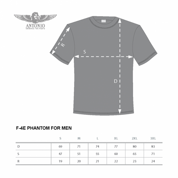 T-shirt with fighter aircraft F-4E PHANTOM II