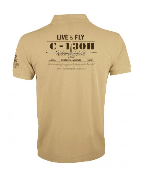 Polo with army aircraft HERCULES C-130H - Size: XXL