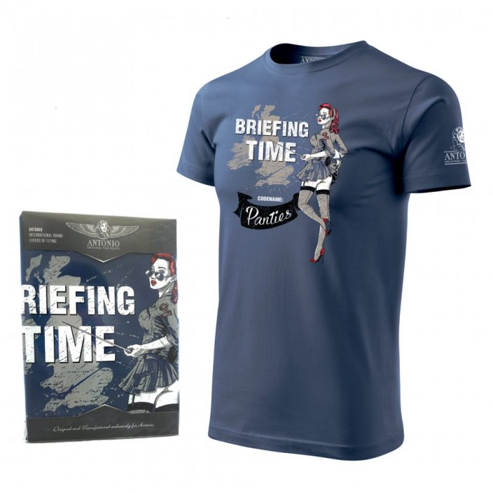 T-Shirt avec nose art BRIEFING TIME