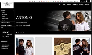 We are launching a new web portal with Antonio clothing