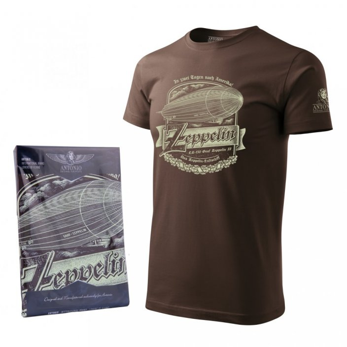 T-Shirt with airship ZEPPELIN - Size: M