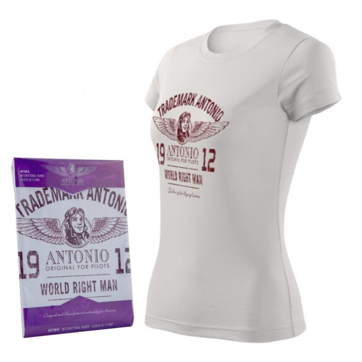 Women T-shirt with logo ANTONIO 1912 (W)