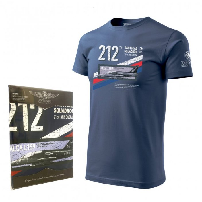 T-Shirt with fighter aircraft Aero L-159 ALCA TRICOLOR
