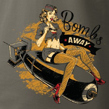 Sexy t-shirt with aviation design, Nose art