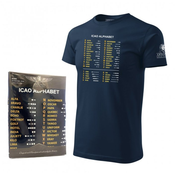 T-Shirt with ICAO phonetic alphabet