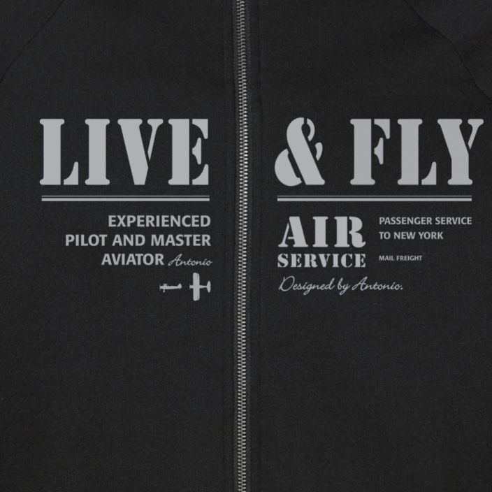 Sweatshirt with an aviation theme AIR SERVICE - Size: XL