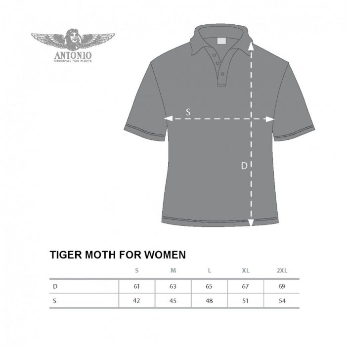 Women Polo british biplane DE HAVILLAND TIGER MOTH (W) - Size: M