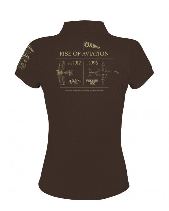 Polo femme montée de l'aviation ANTHONY FOKKER (W) - Taille: XXL
