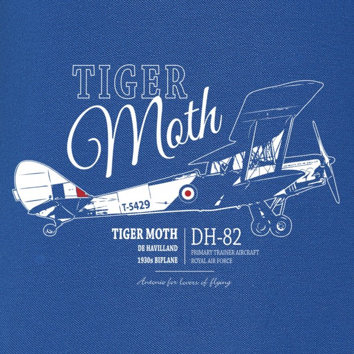 Női Polo brit kétfedelű DE HAVILLAND TIGER MOTH (W)