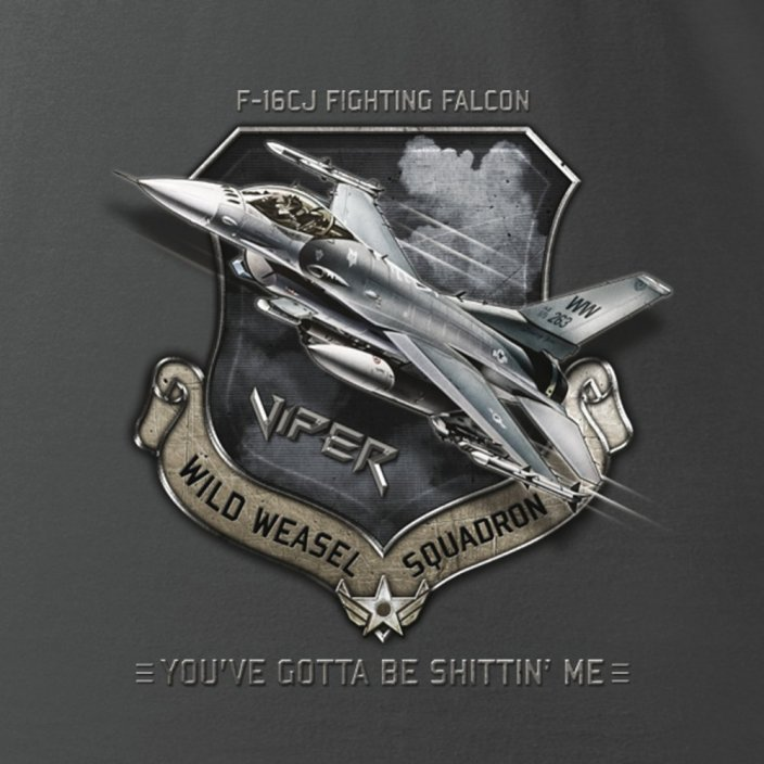 Women T-Shirt fighter aircraft F-16CJ FIGHTING FALCON (W) - Size: M