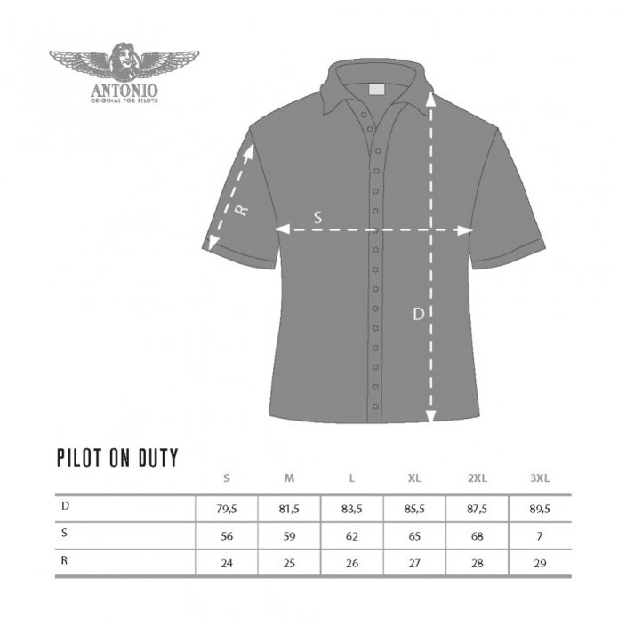 Shirt met epaulettes PILOT ON DUTY