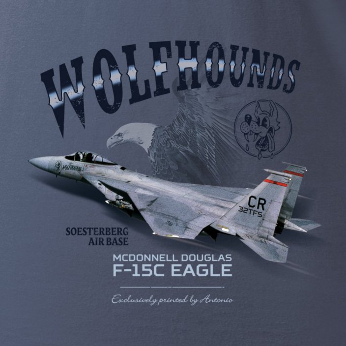 Women T-Shirt with army aircraft F-15C EAGLE (W)