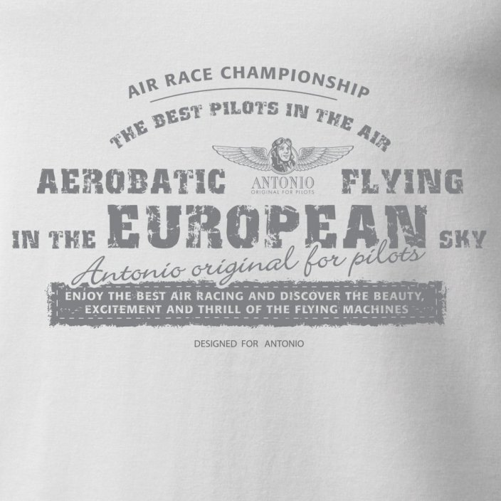 T-Shirt aviation AEROBATICS WH - Size: L