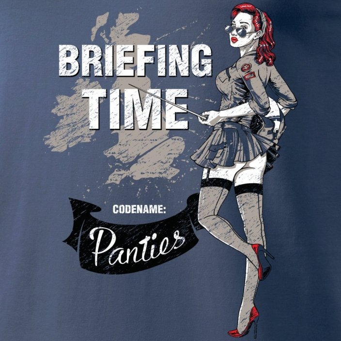 T-Shirt mit nose art BRIEFING TIME