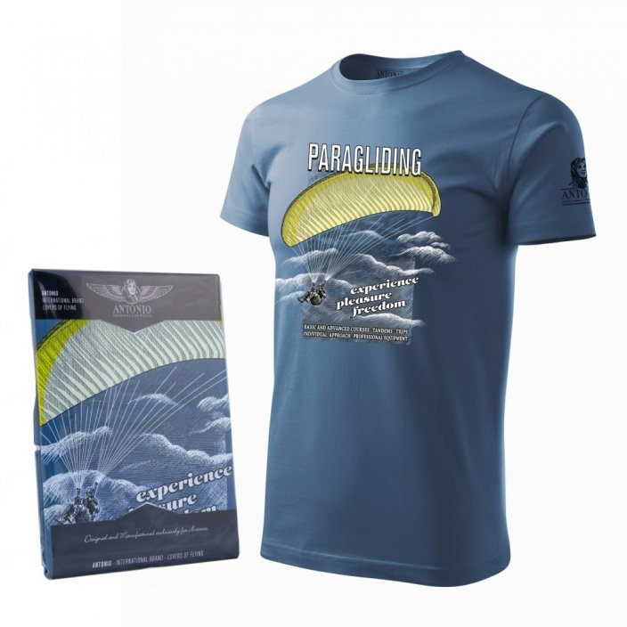 T-Shirt with adrenaline sport PARAGLIDING - Size: L
