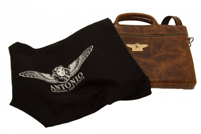 Leather document or laptop bag ROYAL CLASS