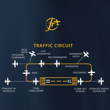 Rules of air traffic at the airport - T-shirt