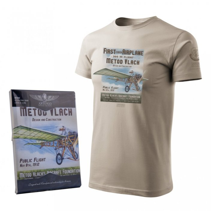 T-Shirt of constructer and airman METOD VLACH - Size: XL