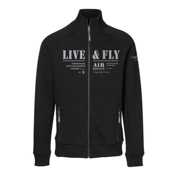 Sweatshirt with an aviation theme AIR SERVICE - Size: XXXL