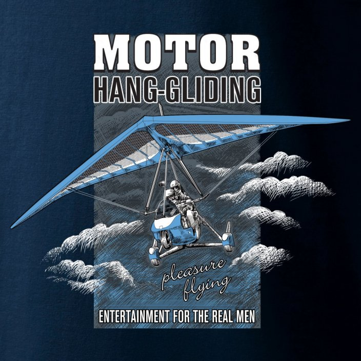T-Shirt with motorized hang glider MOTOR HANG-GLIDING - Size: XXXL