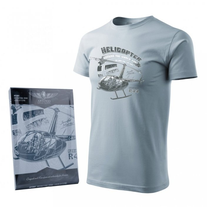 T-shirt with a helicopter ROBINSON R-44 - Size: XXL