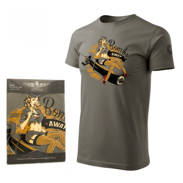 T-Shirt mit nose art BOMBS AWAY