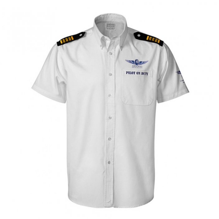 Shirt with epaulettes PILOT ON DUTY