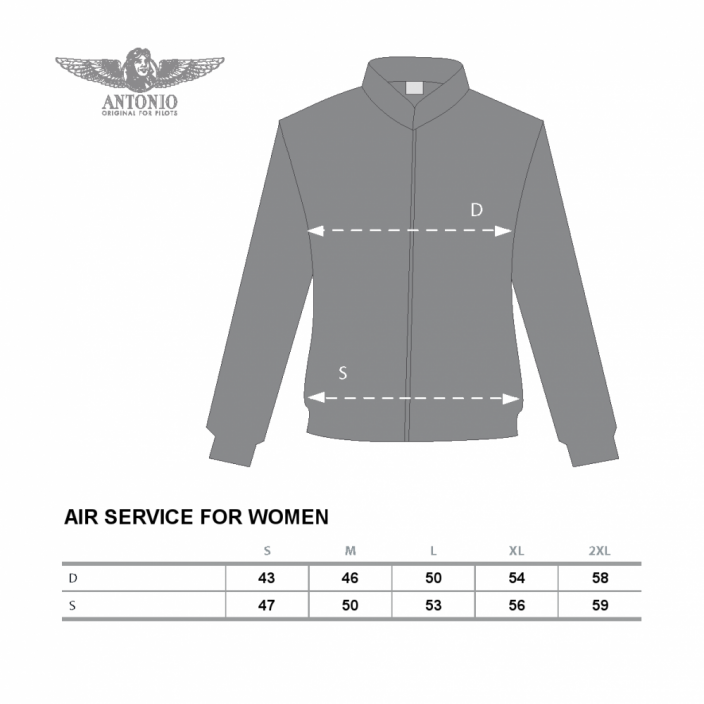 Femme sweat-shirt avec un thème d'aviation AIR SERVICE (W)