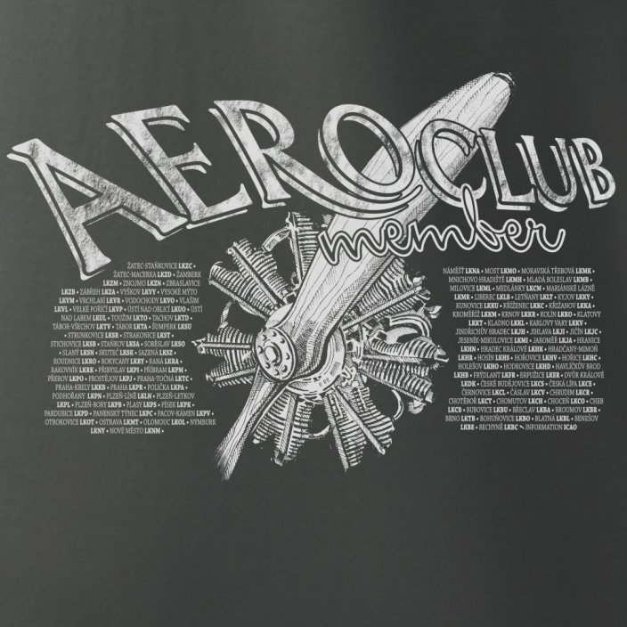 T-Shirt with radial engine AEROCLUB - Size: S