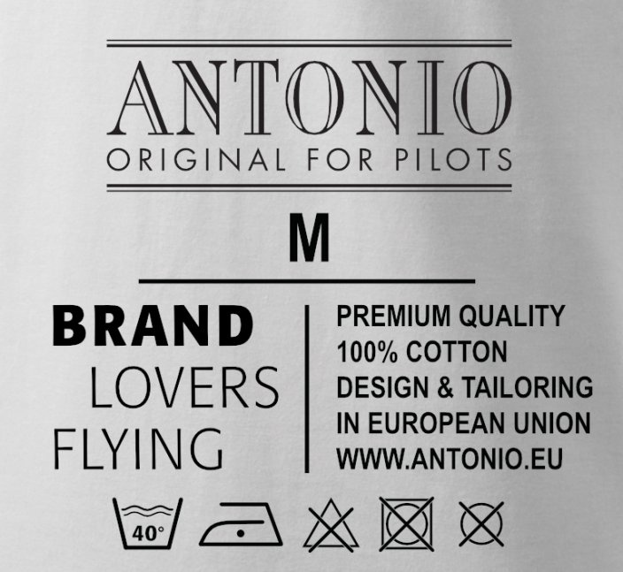 T-shirt with logo ANTONIO 1912 - Size: XXL