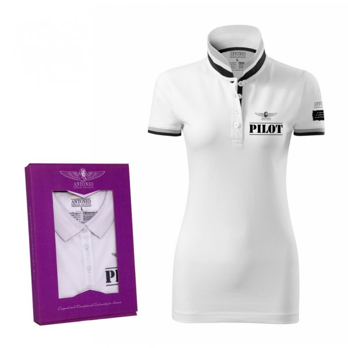 Polo femme signe d'aviation de PILOT WH (W) - Taille: XL
