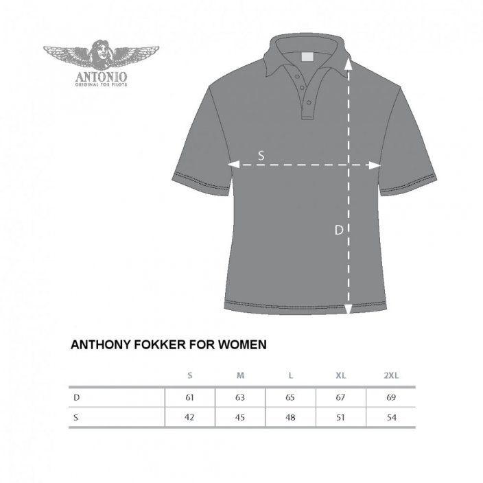 Polo femme montée de l'aviation ANTHONY FOKKER (W) - Taille: XL