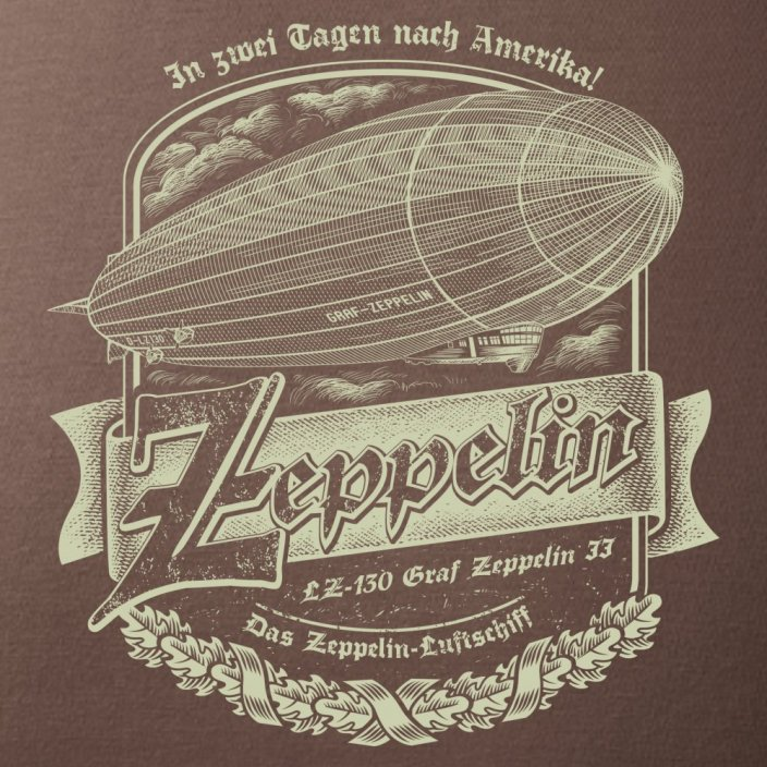T-Shirt with airship ZEPPELIN