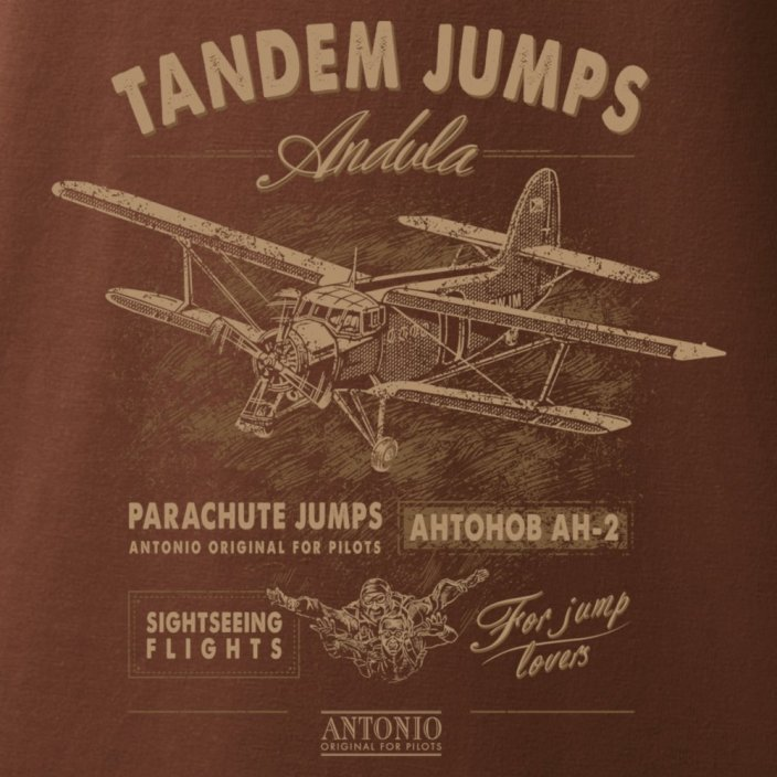 T-Shirt with biplane ANTONOV AN-2